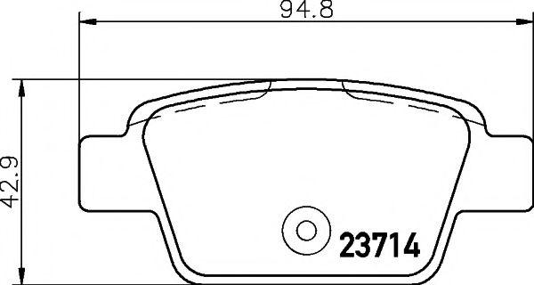 Комплект тормозных колодок, дисковый тормоз TEXTAR арт. 2371401
