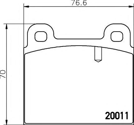 Комплект тормозных колодок, дисковый тормоз TEXTAR арт. 2001107