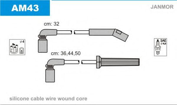Комплект проводов зажигания JANMOR арт. AM43
