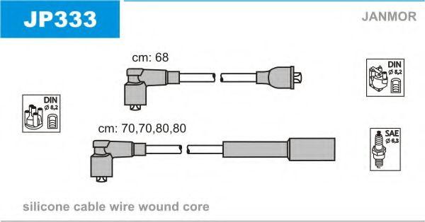 Комплект проводов зажигания JANMOR арт. JP333