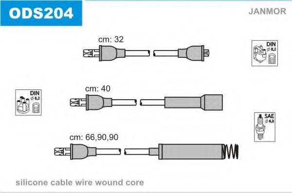 Комплект проводов зажигания JANMOR арт. ODS204