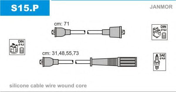 Комплект проводов зажигания JANMOR арт. S15P
