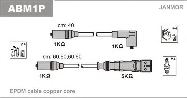 Комплект проводов зажигания JANMOR арт. ABM1P