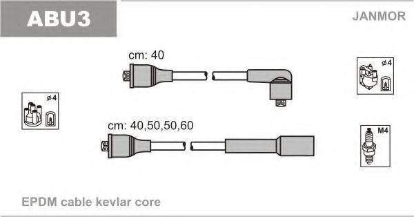 Комплект проводов зажигания JANMOR арт. ABU3