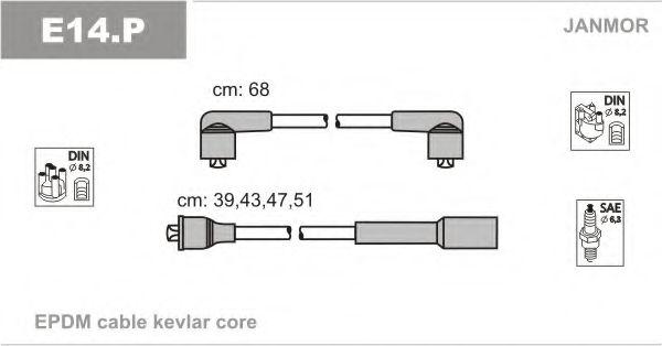 Комплект проводов зажигания JANMOR арт. E14P