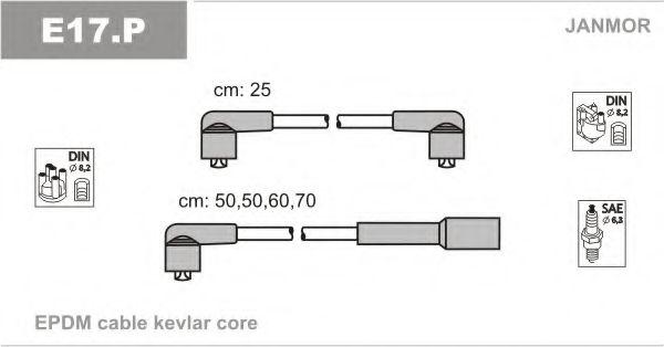 Комплект проводов зажигания JANMOR арт. E17P