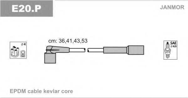 Комплект проводов зажигания JANMOR арт. E20P