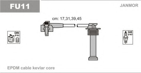 Комплект проводов зажигания JANMOR арт. FU11