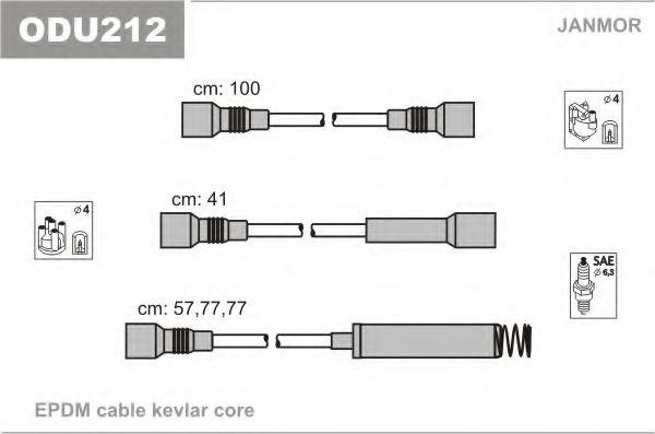 Комплект проводов зажигания JANMOR арт. ODU212
