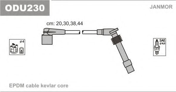 Комплект проводов зажигания JANMOR арт. ODU230
