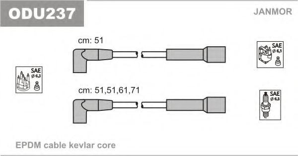 Комплект проводов зажигания JANMOR арт. ODU237