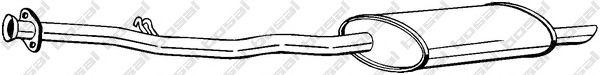 Глушитель выхлопных газов конечный BOSAL арт. 283285