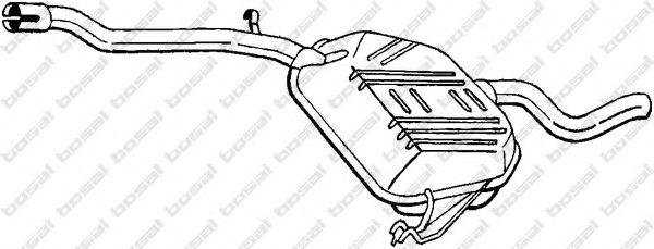 Глушитель выхлопных газов конечный BOSAL арт. 278387
