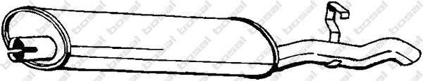 Глушитель выхлопных газов конечный BOSAL арт. 148327