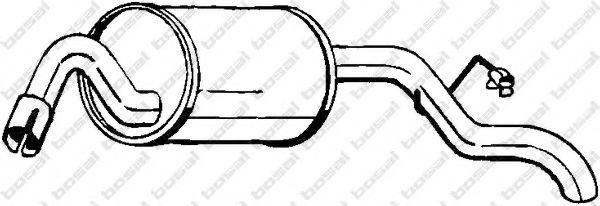 Глушитель выхлопных газов конечный BOSAL арт. 154935