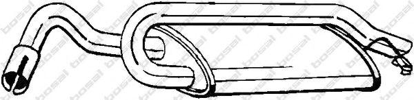 Глушитель выхлопных газов конечный BOSAL арт. 154939
