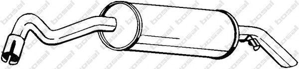 Глушитель выхлопных газов конечный BOSAL арт. 154219
