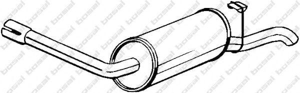 Глушитель выхлопных газов конечный BOSAL арт. 154843