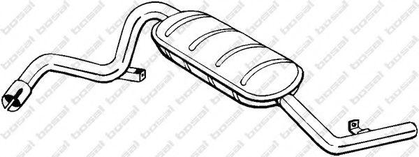 Глушитель выхлопных газов конечный BOSAL арт. 148881