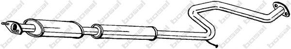 Средний глушитель выхлопных газов BOSAL арт. 285397