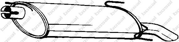 Глушитель выхлопных газов конечный BOSAL арт. 185221