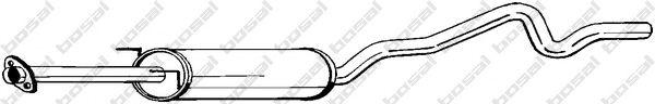 Средний глушитель выхлопных газов BOSAL арт. 283319