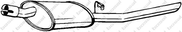 Глушитель выхлопных газов конечный BOSAL арт. 185225