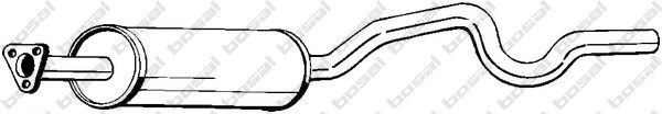 Средний глушитель выхлопных газов BOSAL арт. 281075