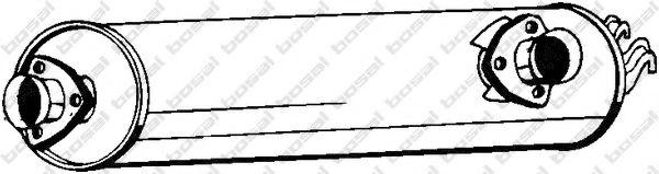Средний глушитель выхлопных газов BOSAL арт. 233555