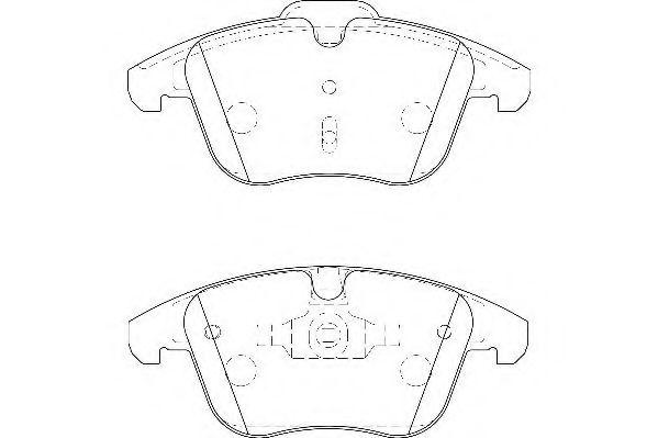 Комплект тормозных колодок, дисковый тормоз WAGNER арт.