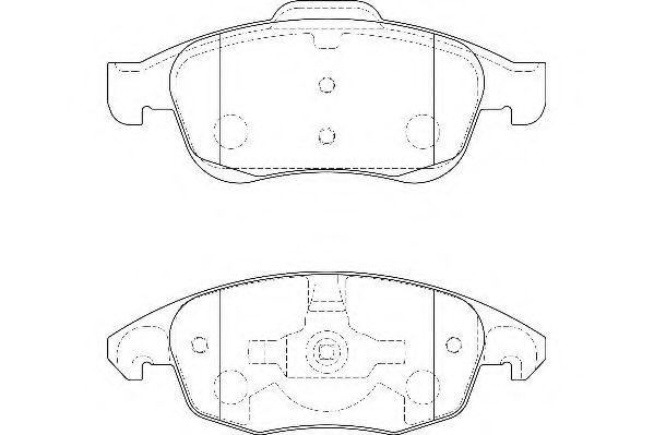 Комплект тормозных колодок, дисковый тормоз WAGNER арт. WBP24538A