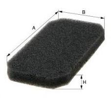 Фильтры прочие Фильтр, воздух во внутренном пространстве MFILTER арт. K993