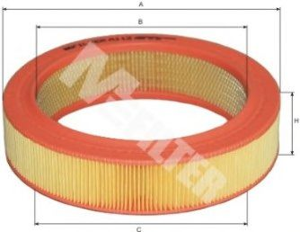 Фильтры воздуха салона автомобиля Воздушный фильтр MFILTER арт. A112