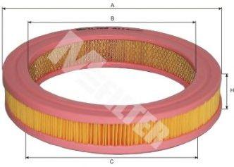 Фильтры воздуха салона автомобиля Воздушный фильтр MFILTER арт. A114