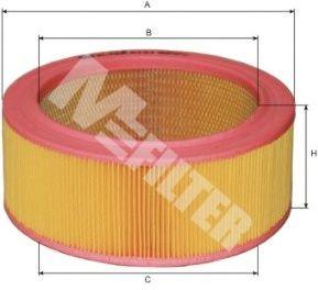 Фильтры воздуха салона автомобиля Воздушный фильтр MFILTER арт.