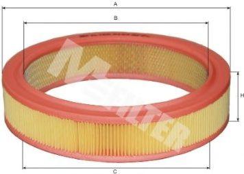 Воздушный фильтр MFILTER арт. A123