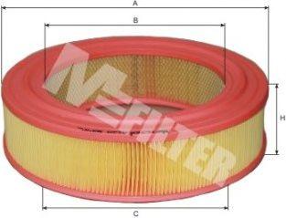 Фильтры воздуха салона автомобиля Воздушный фильтр MFILTER арт. A129