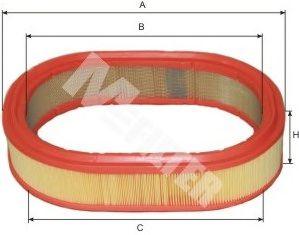 Фильтры воздуха салона автомобиля Воздушный фильтр MFILTER арт. A268