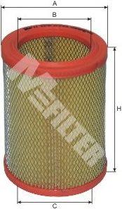 Фильтры воздуха салона автомобиля Воздушный фильтр MFILTER арт. A276
