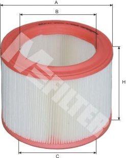 Фильтры воздуха салона автомобиля Воздушный фильтр MFILTER арт. A388
