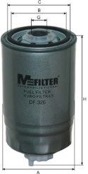 Фильтры топливные Топливный фильтр MFILTER арт.