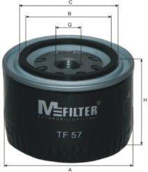 Масляный фильтр MFILTER арт. TF57