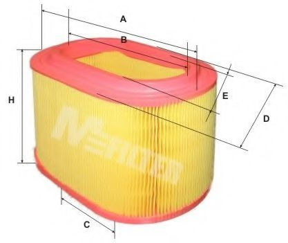 Воздушный фильтр MFILTER арт. A8023