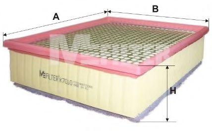 Воздушный фильтр MFILTER арт. K7010