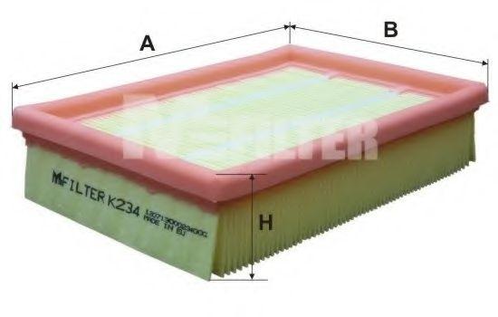 Воздушный фильтр MFILTER арт. K234