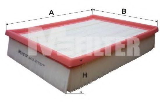 Фильтры прочие Воздушный фильтр MFILTER арт. K433