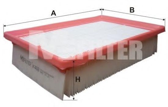 Фильтры прочие Воздушный фильтр MFILTER арт. K468