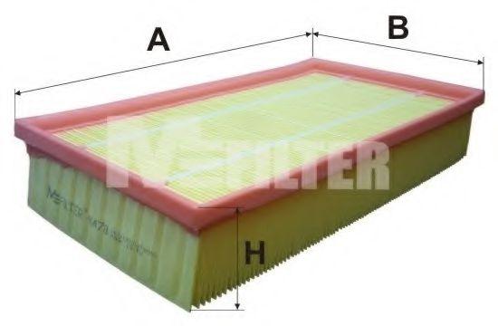 Фильтры прочие Воздушный фильтр MFILTER арт. K478