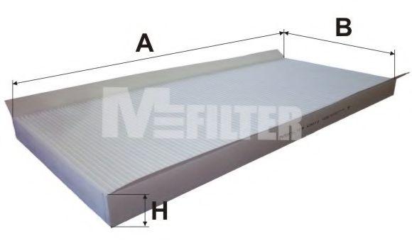 Фильтр, воздух во внутренном пространстве MFILTER арт. K9073