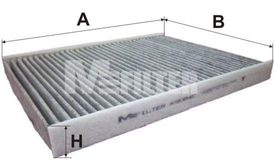 Фильтр, воздух во внутренном пространстве MFILTER арт. K9084C